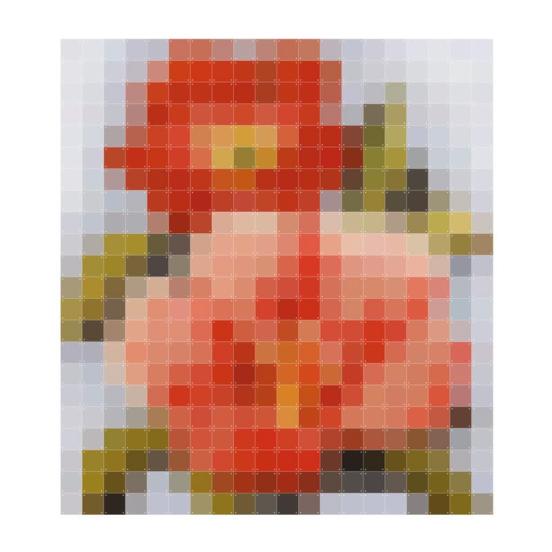 Pixel wanddecoratie bloem