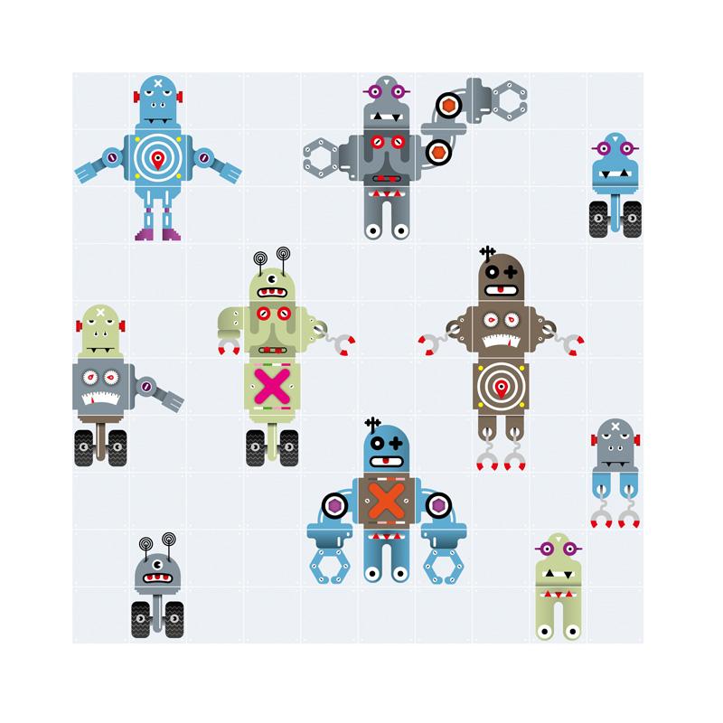 Muurdecoratie van robots