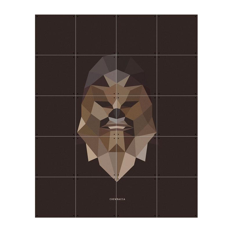 Muurdecoratie van Chewbacca