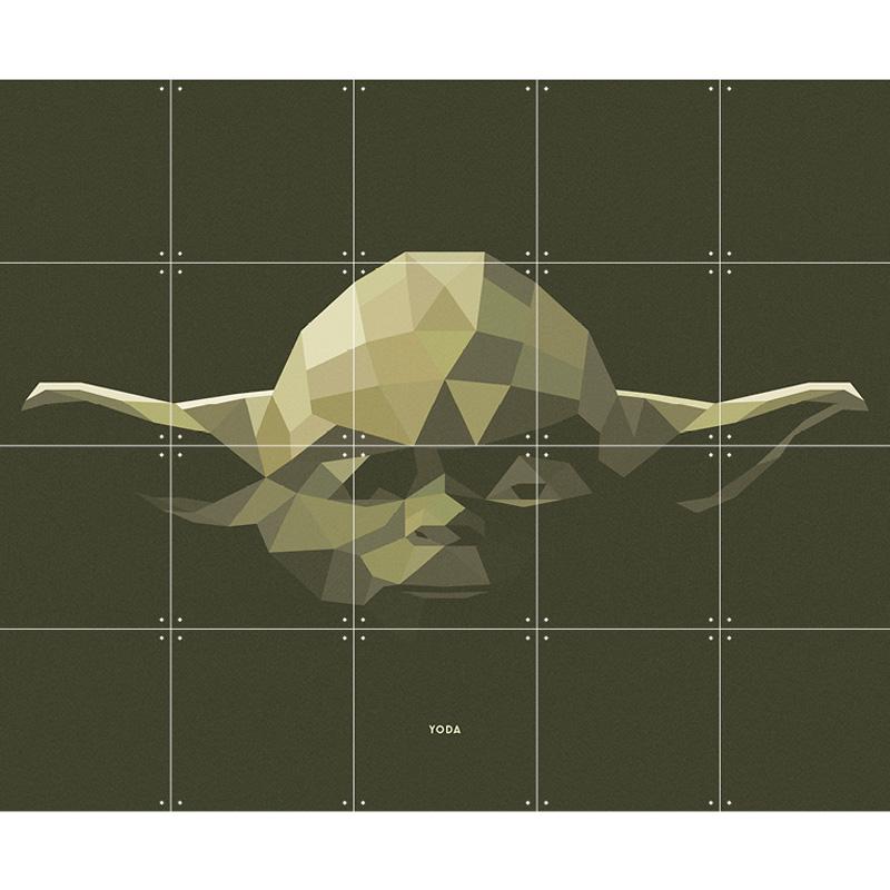 Wanddecoratie van Yoda