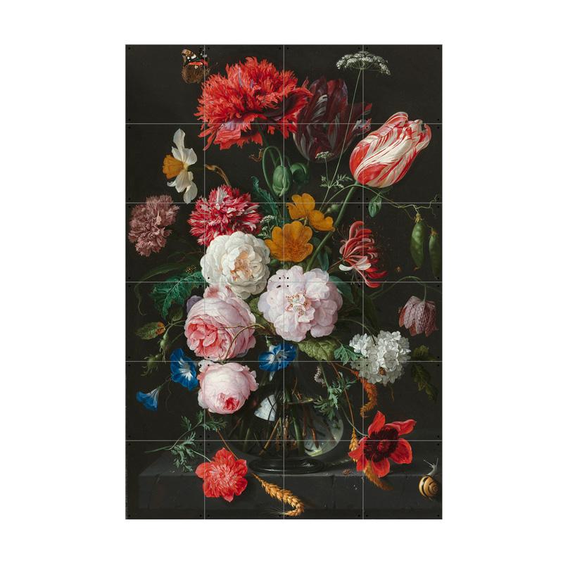 Muurdecoratie bloemen
