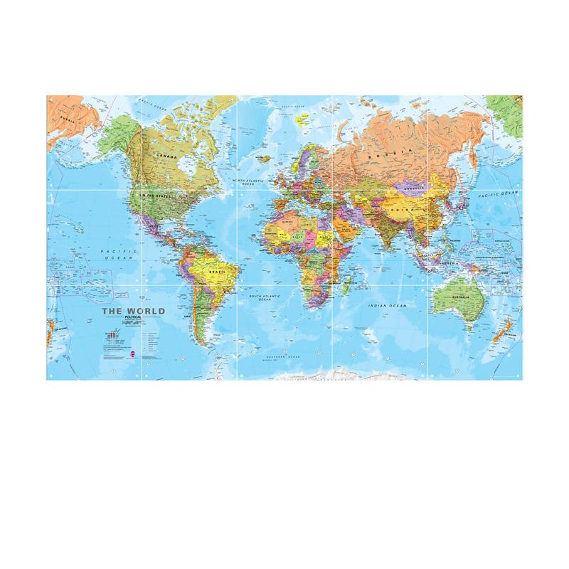 Wanddecoratie van wereldkaart