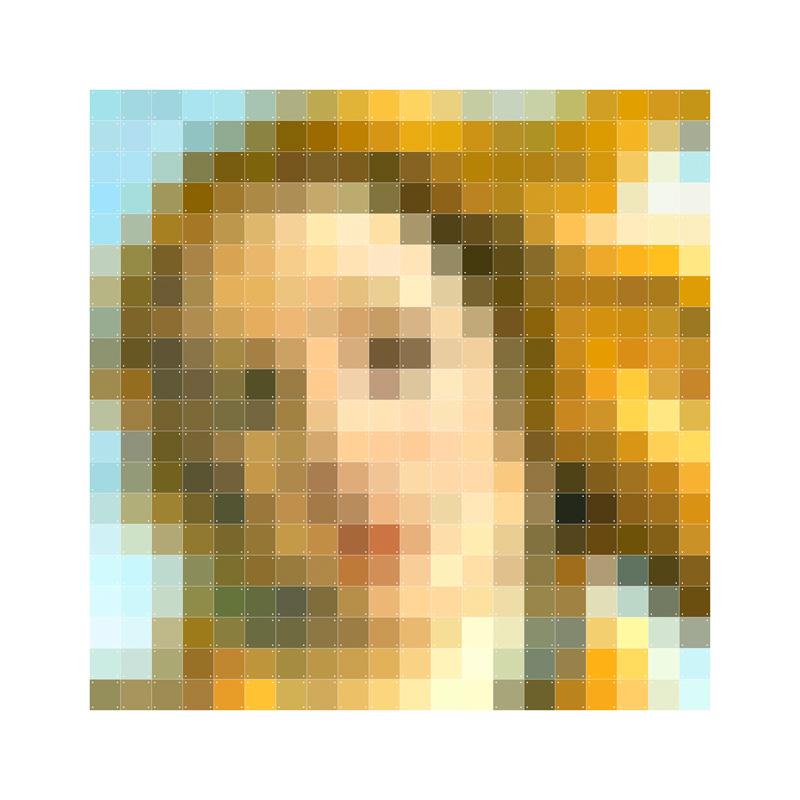 Pixel wanddecoratie van godin Venus