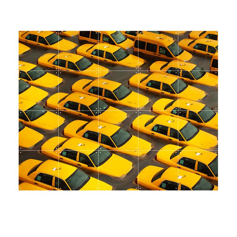 Wanddecoratie gele taxi's New York