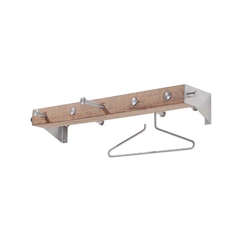 Kapstok houten RVS