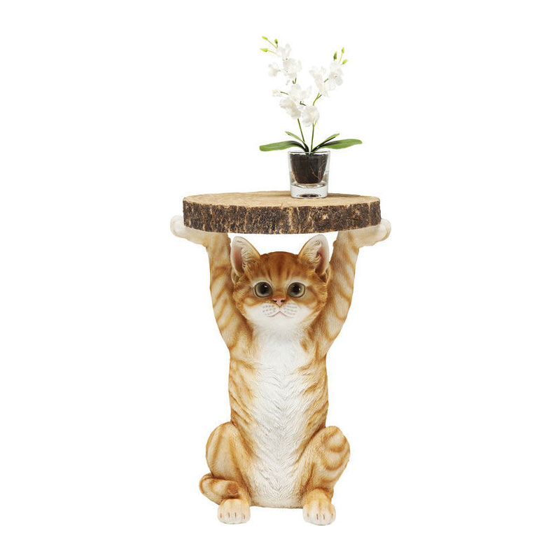 Kare design animal bijzettafeltje oranje kat lumz for Bijzettafeltje design