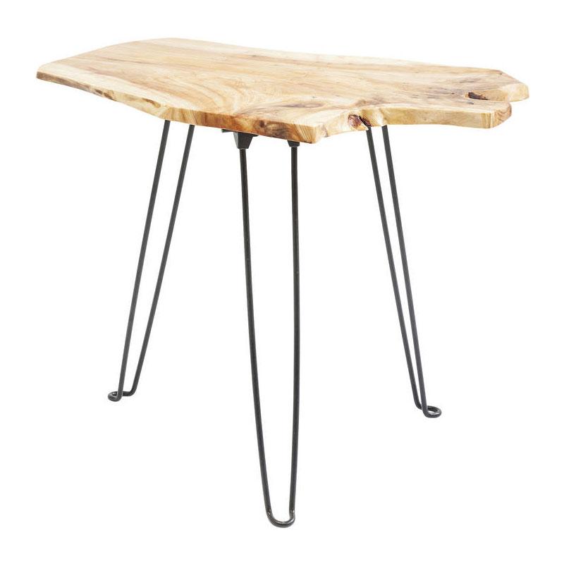 Bijzettafel met houten blad