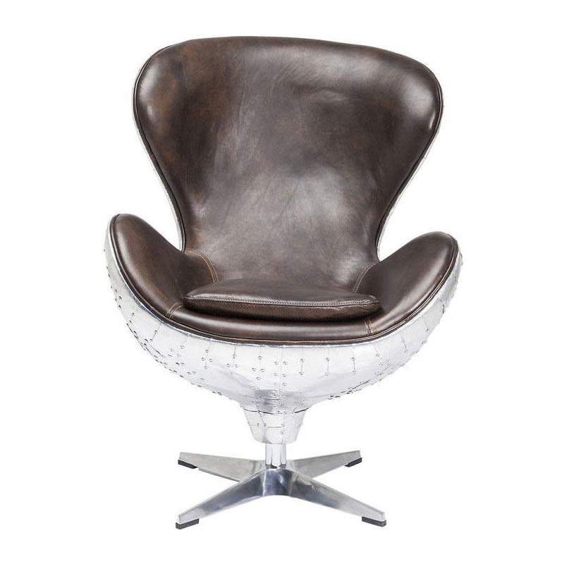 Aluminium vintage fauteuil
