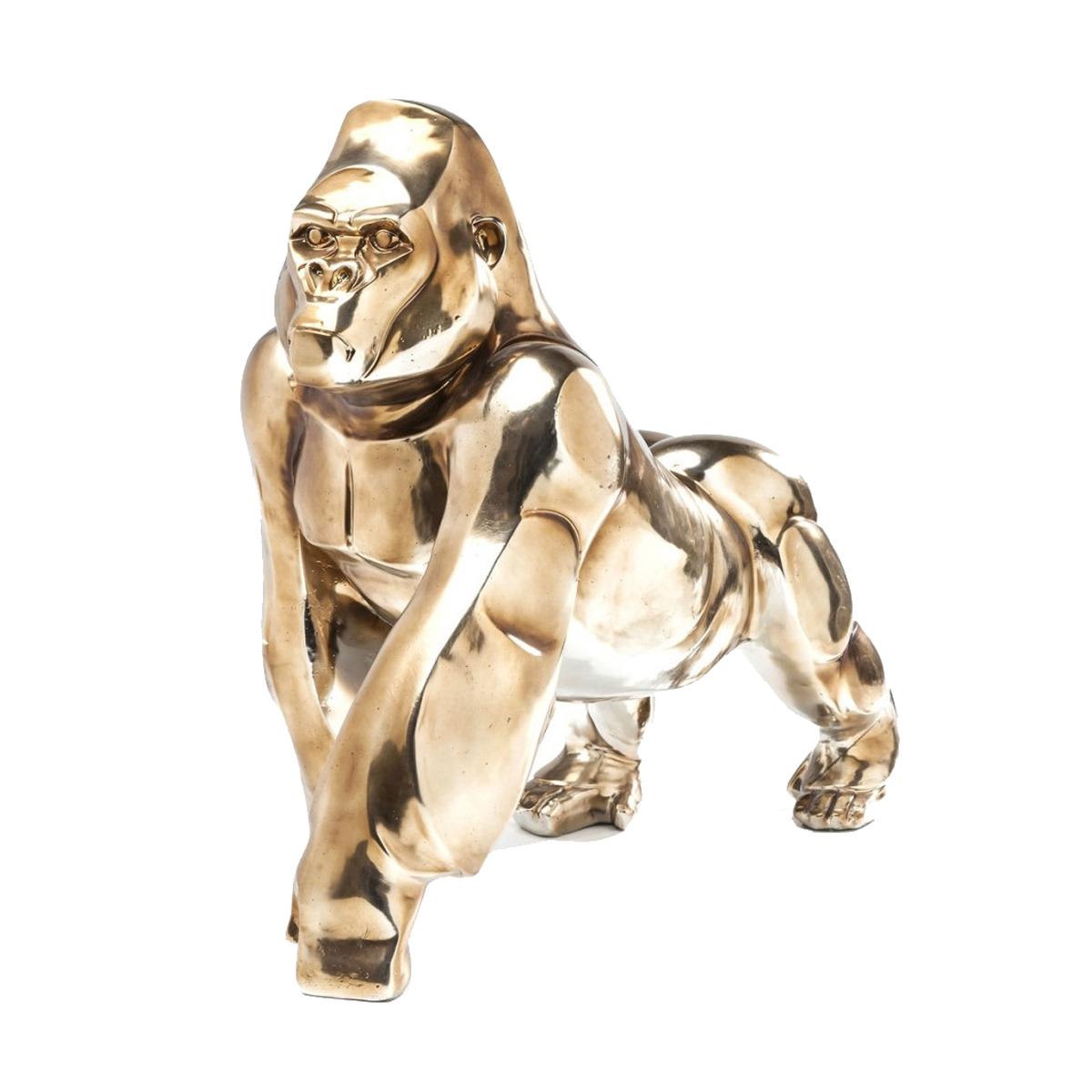 Gouden gorillabeeld