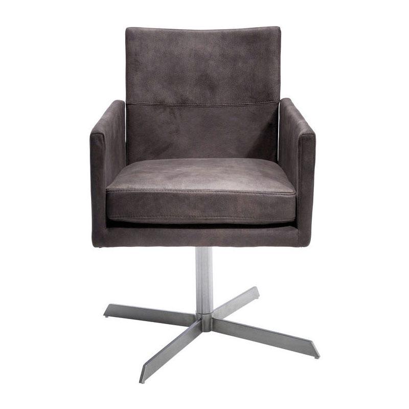 Vierkante bruine stoel