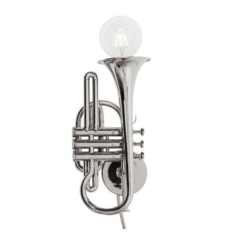 Wandlamp met trompet-frame