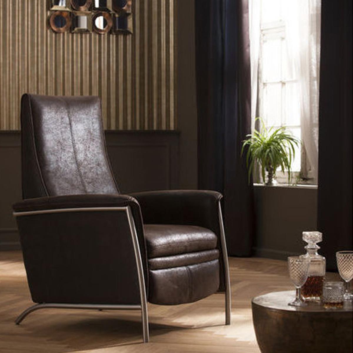 Verstelbare bruine fauteuil