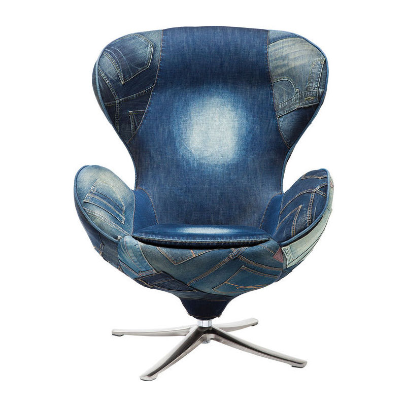 Spijkerstof fauteuil
