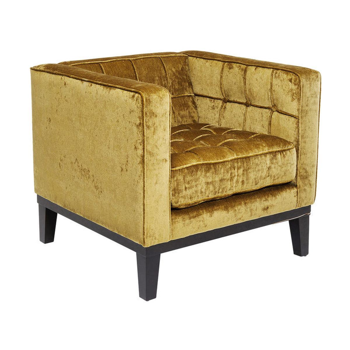 Okergele comfortabele fauteuil