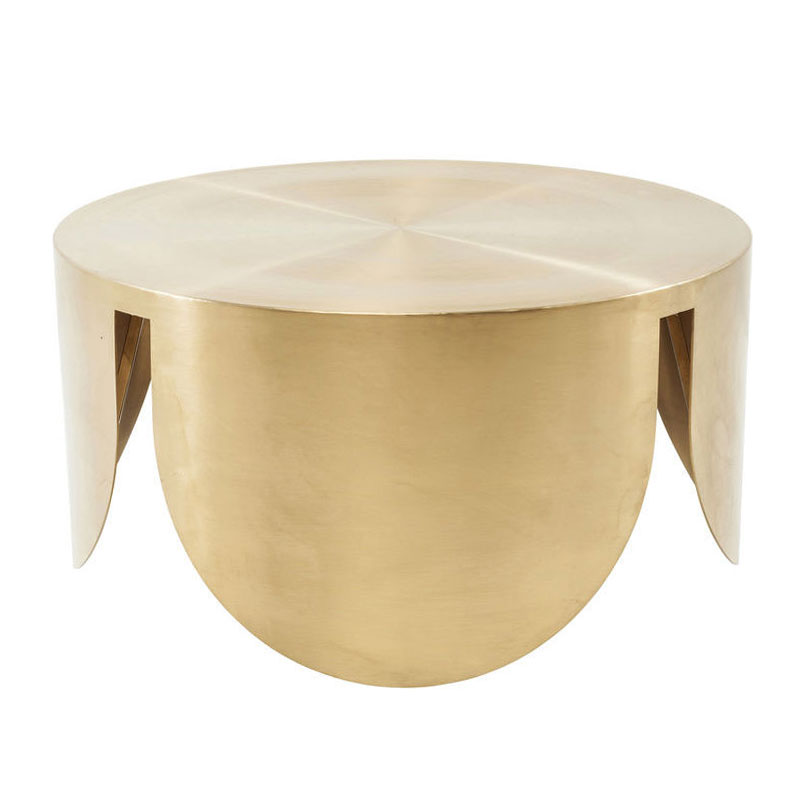 Goud metalen salontafel