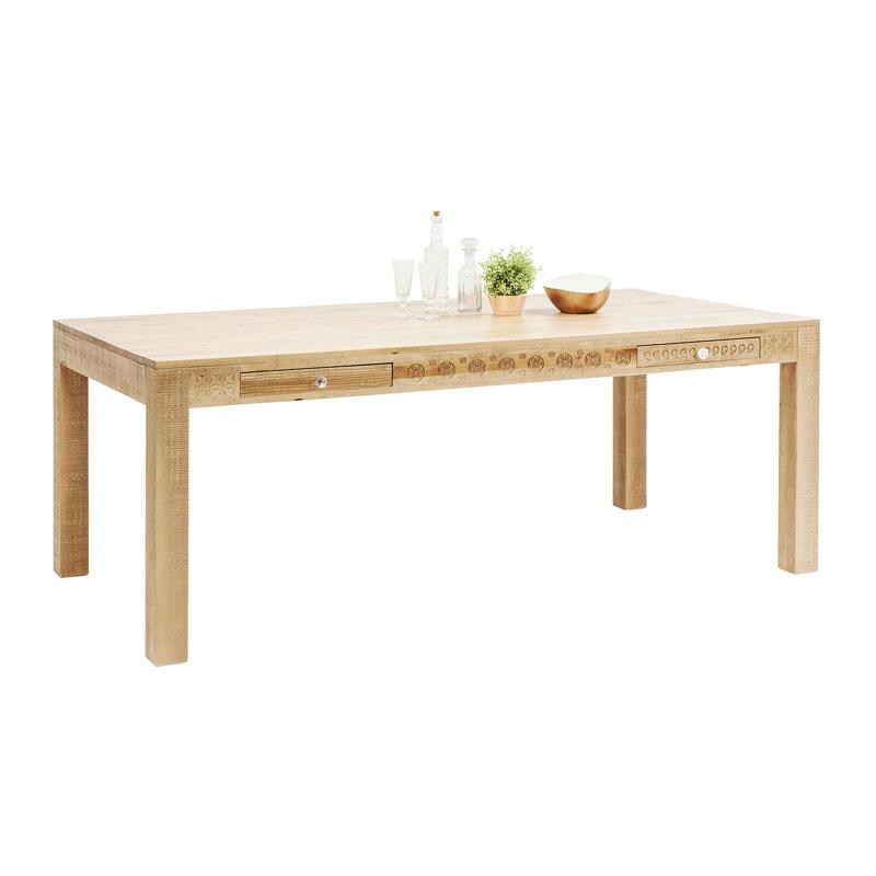 Kare design purezza houten eettafel 180x90 for Houten eettafel design