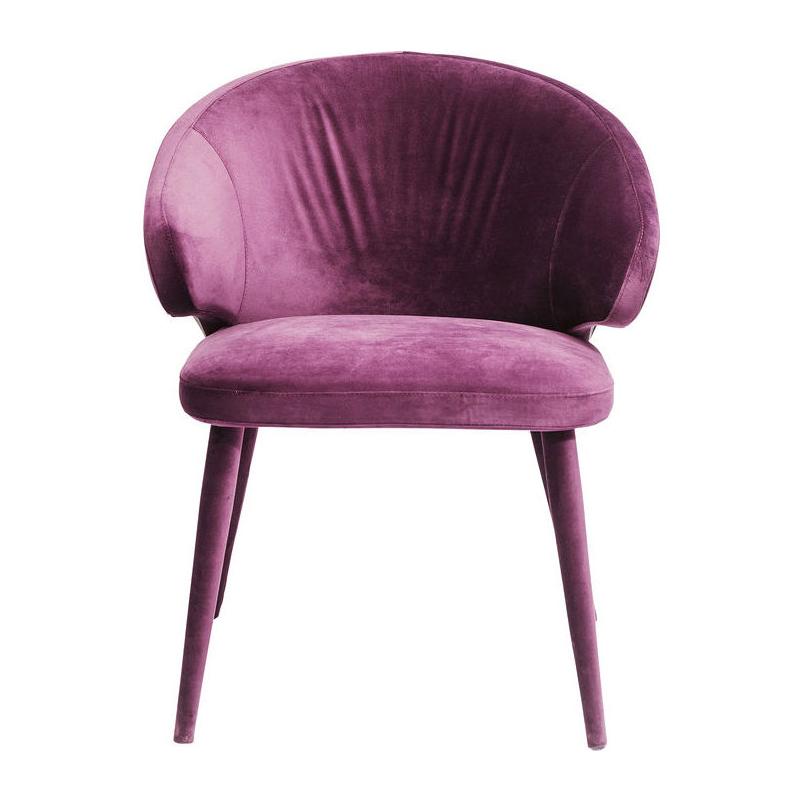 Volledig fluweel paarse stoel