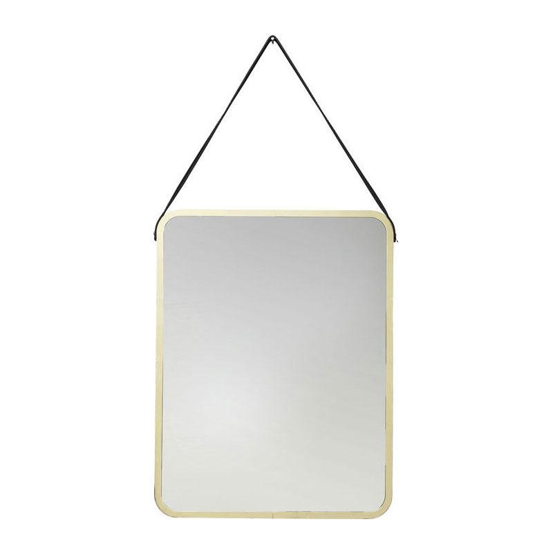 kare design salute spiegel met gouden rand lumz. Black Bedroom Furniture Sets. Home Design Ideas