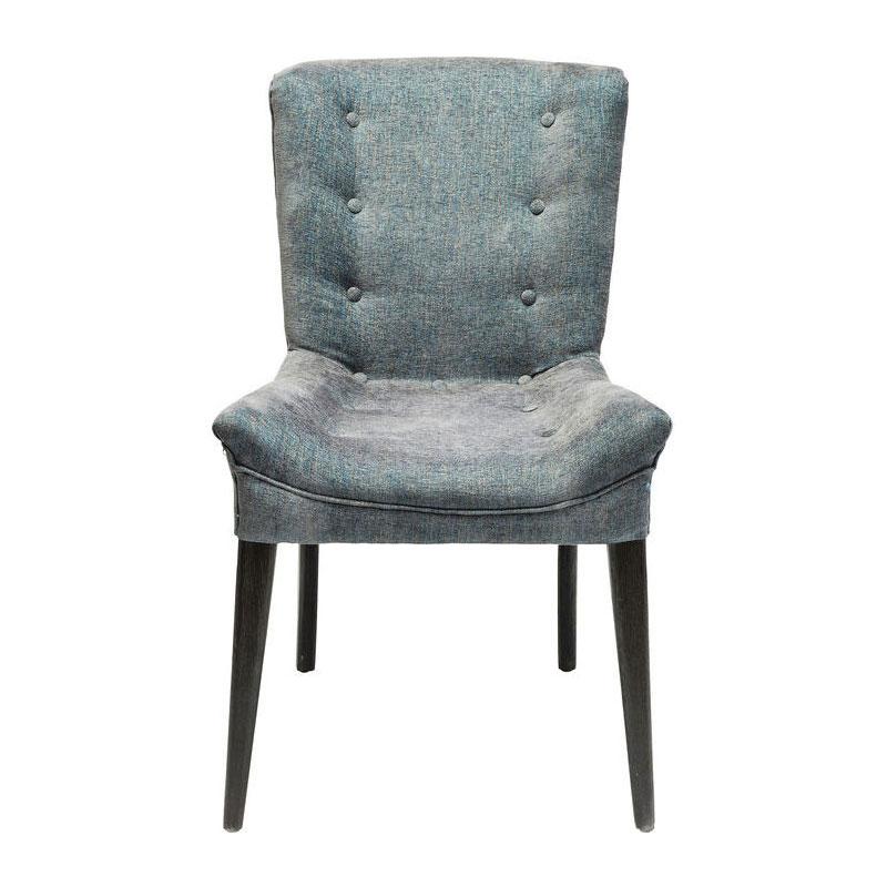 Donkerblauw retro stoel