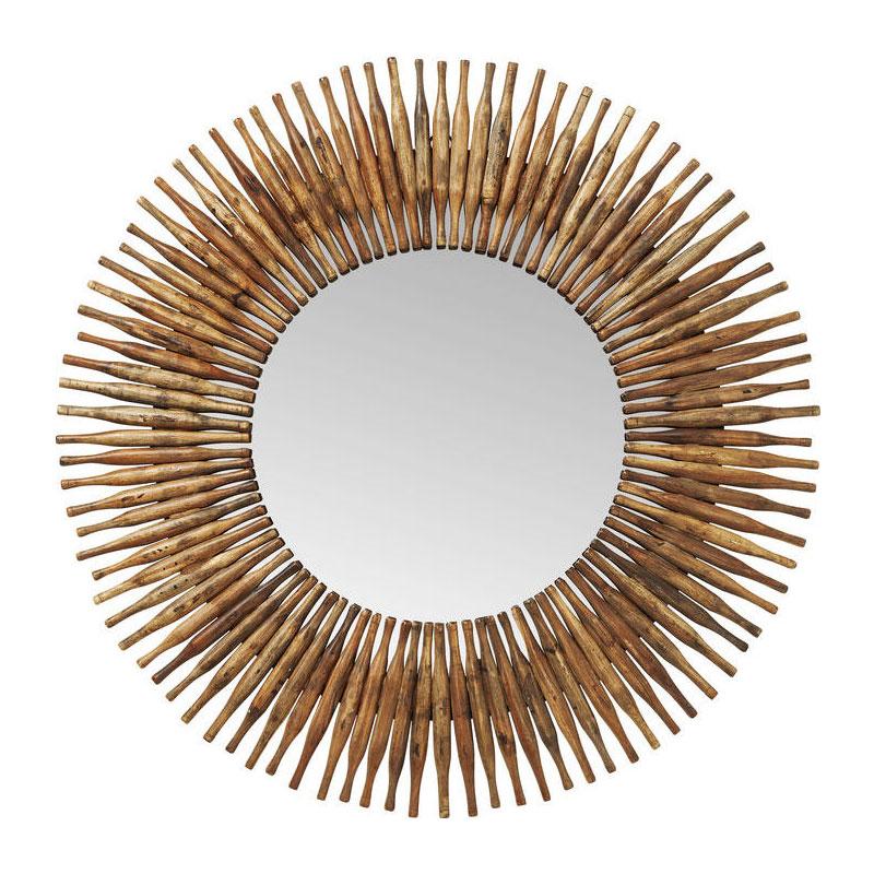Wandspiegel met houten frame