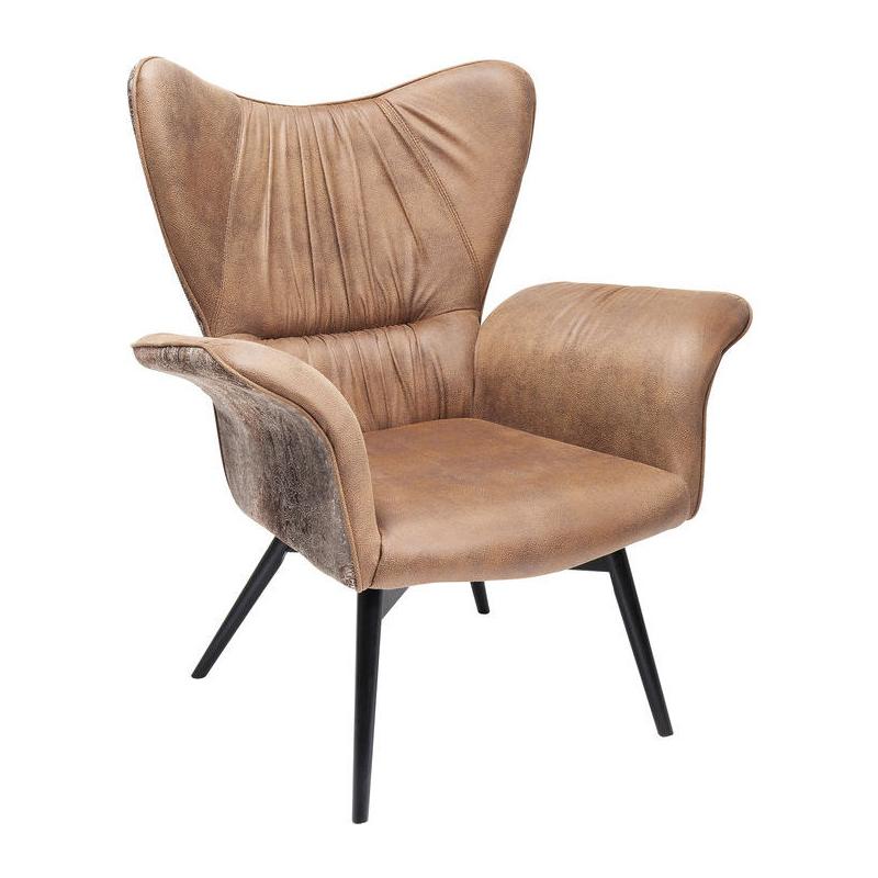 Verbazingwekkend Kare Design Wall Street | Bruine vintage design fauteuil | 83064 FI-05