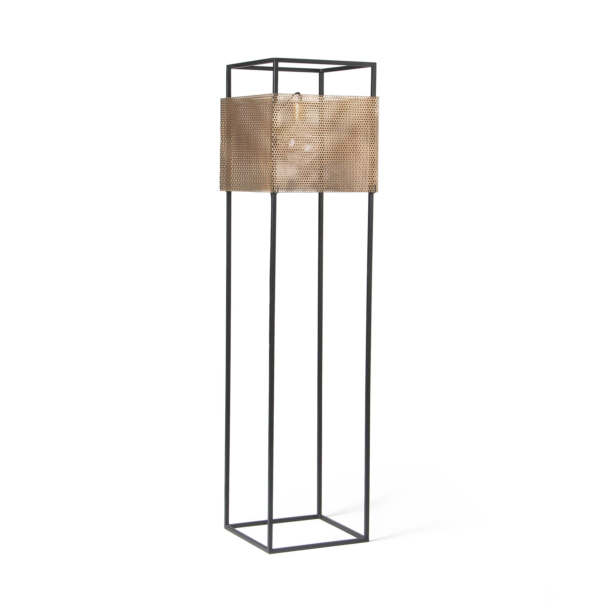 Vierkante metalen vloerlamp