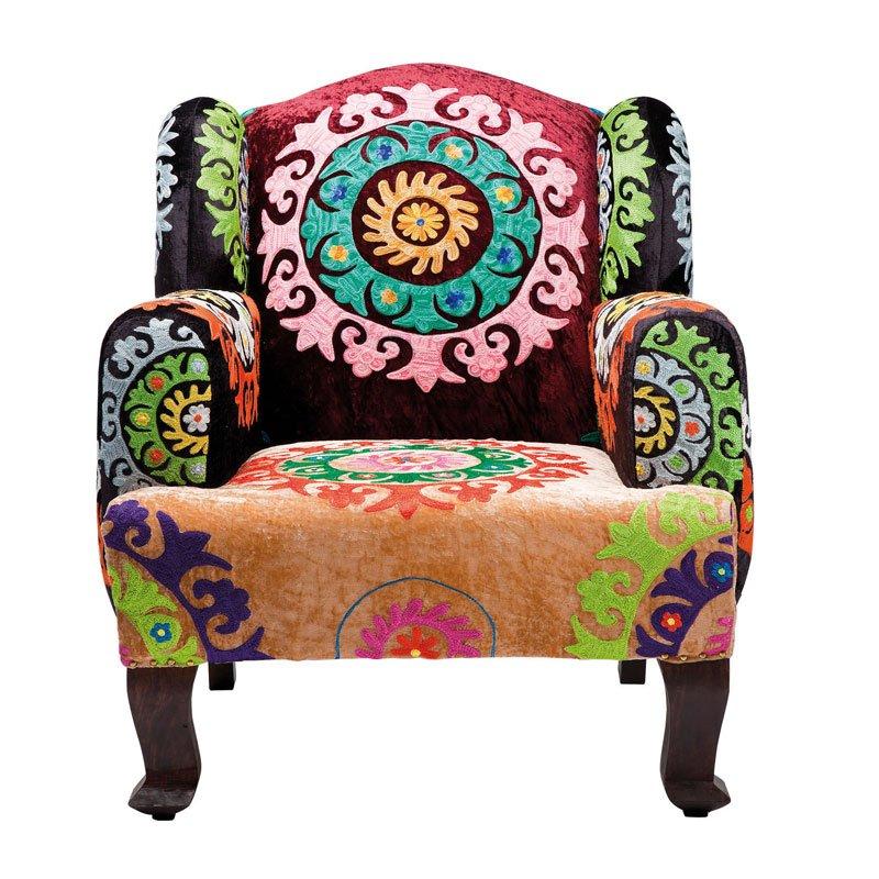 Klassieke fauteuil zijde Mandala