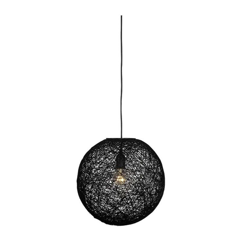 Moderne hanglamp van zwart vlas 60cm