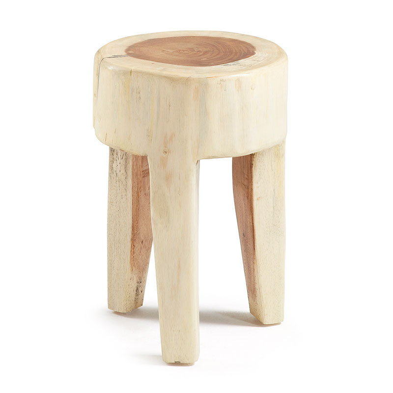 Rond houten krukje