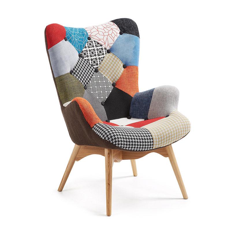 Vrolijk gekleurde fauteuil