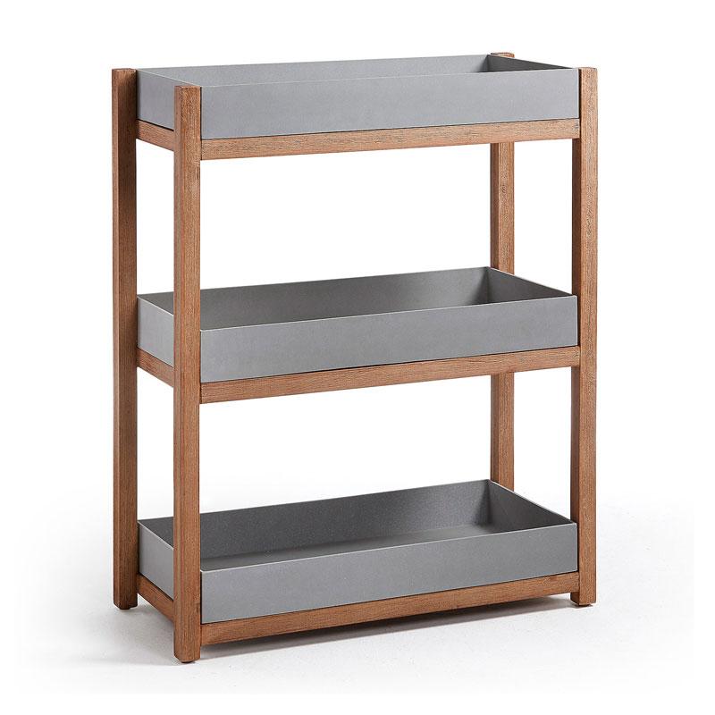 Open Kast Met Grijze Planken