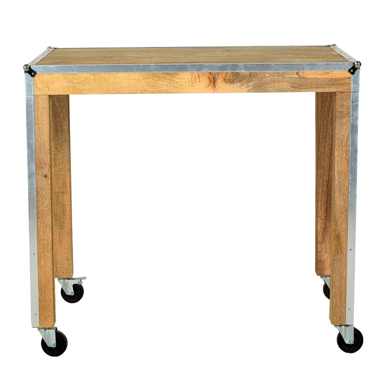 Lavis hilt houten bartafel op wielen onlinedesignmeubel for Houten bartafel