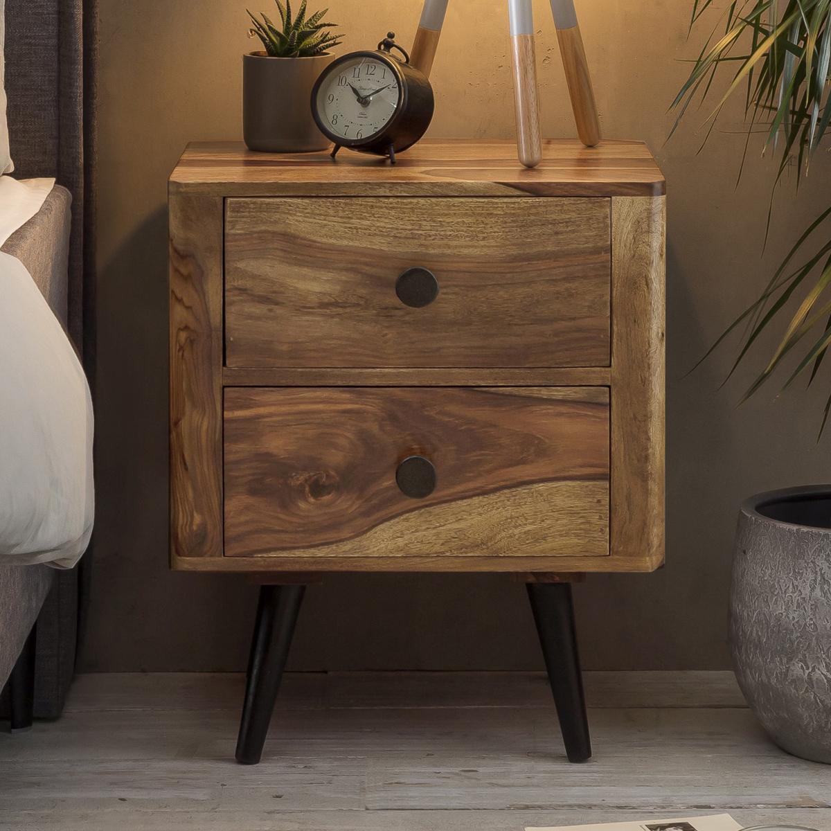 Nachtkastje van sheesham hout