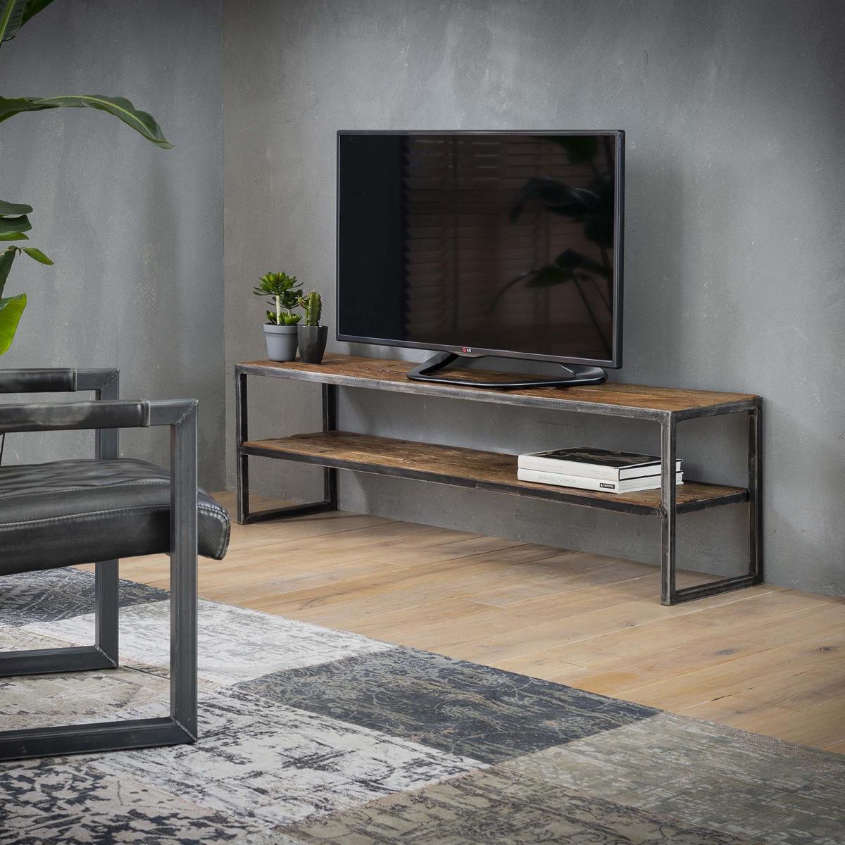 Massief hardhouten tv-meubel