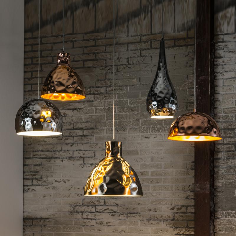 Unieke gehamerde hanglamp
