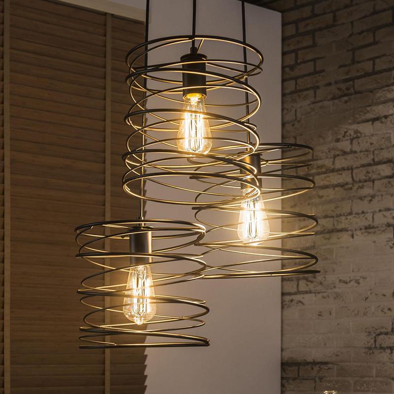 industriele hanglamp van metaal | mioni curl | lumz