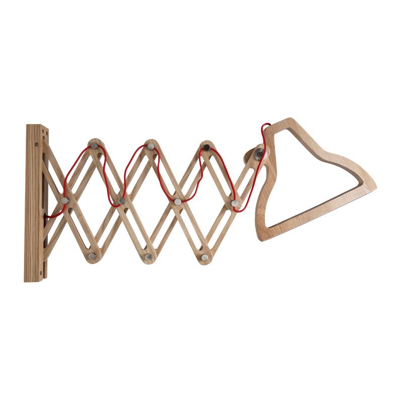 Moderne wandlamp hout