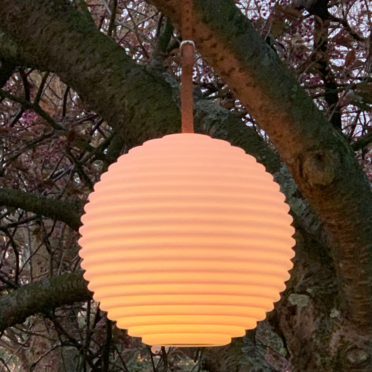 Tuin lampion met multicolor LED