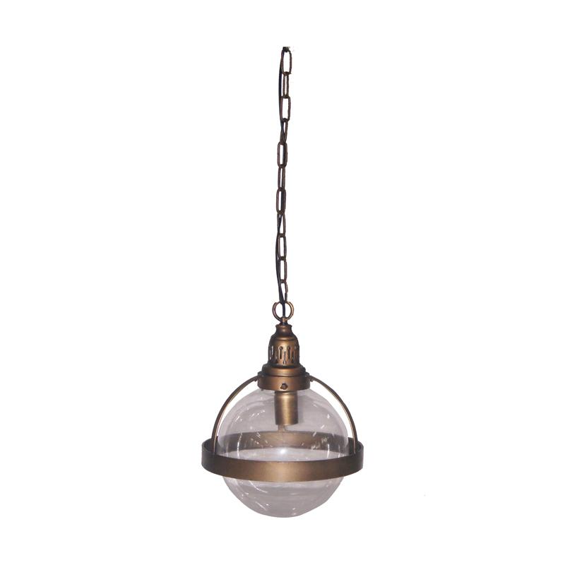 Bedwelming PTMD Gravis gold   Hanglamp goud met glazen bol   675695   LUMZ &AN06