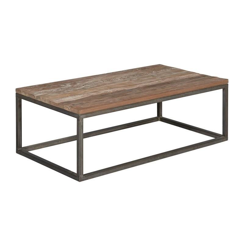 Rechthoekige salontafel teak