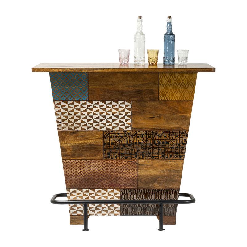 Retro design bar hout Soleil