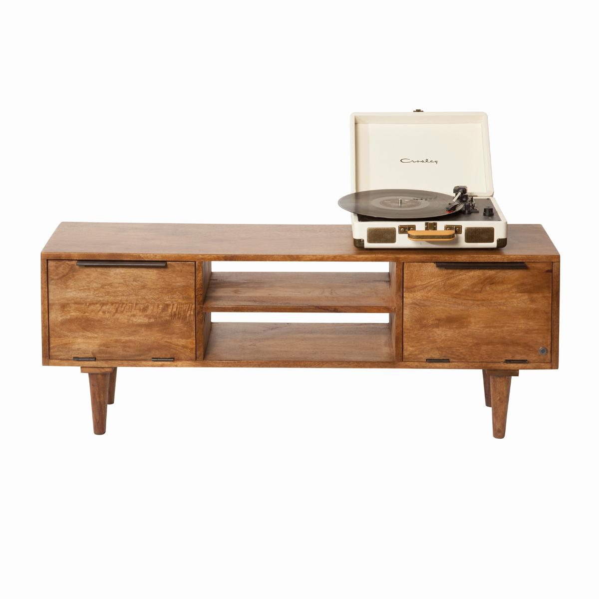 Retro tv-meubel mangohout
