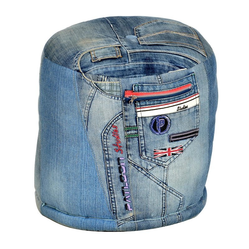 Ronde poef Lavis Jeans