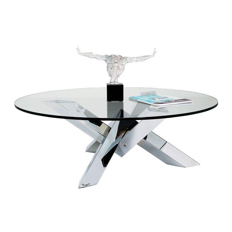 Ronde salontafel glas Crystal Eco