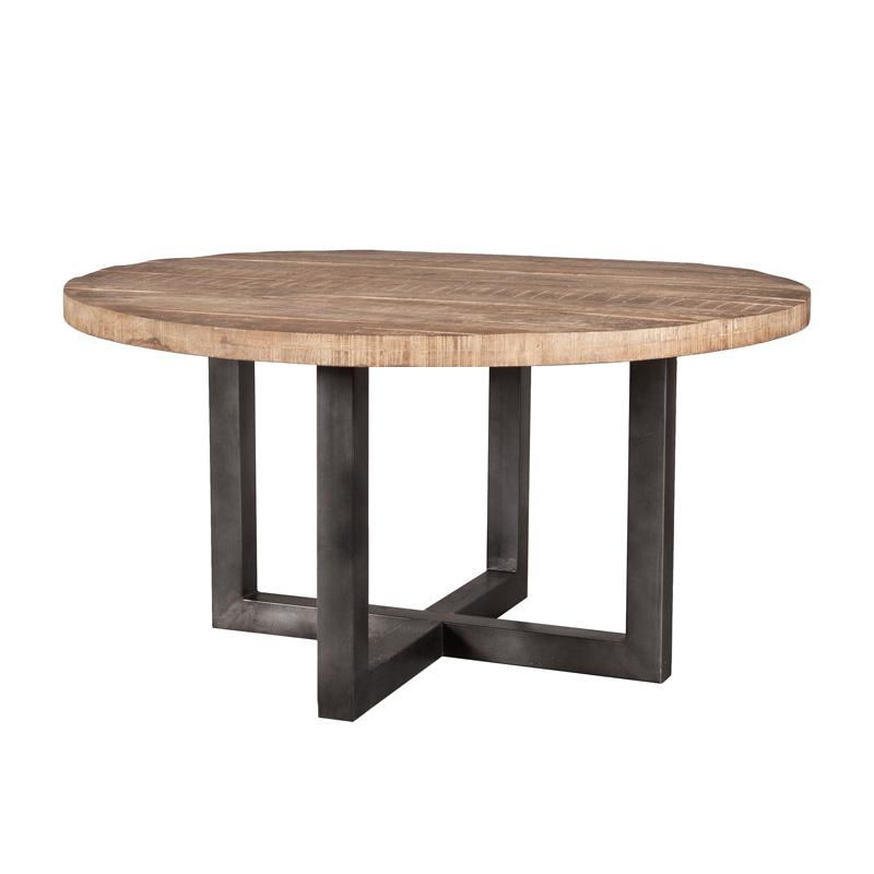 eleonora mango - ronde tafel van hout - lumz.nl