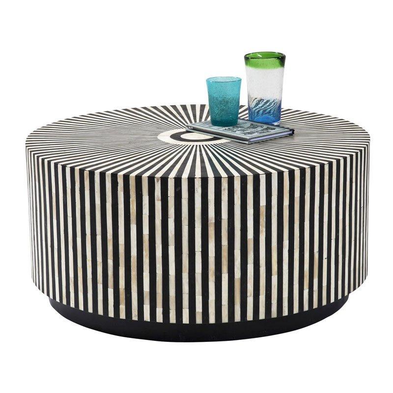 Ronde tafel zwart-wit Electra 75