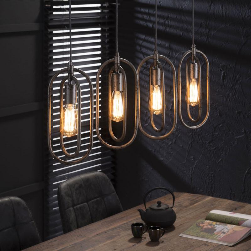 Ovale hanglamp 4L