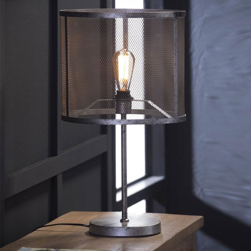 Industrieel tafellampje raster