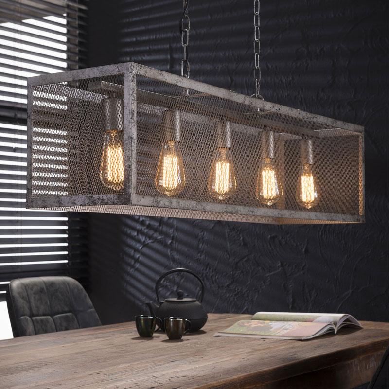 Santa Krinis Industriele Hanglamp Raster 5l Lumz