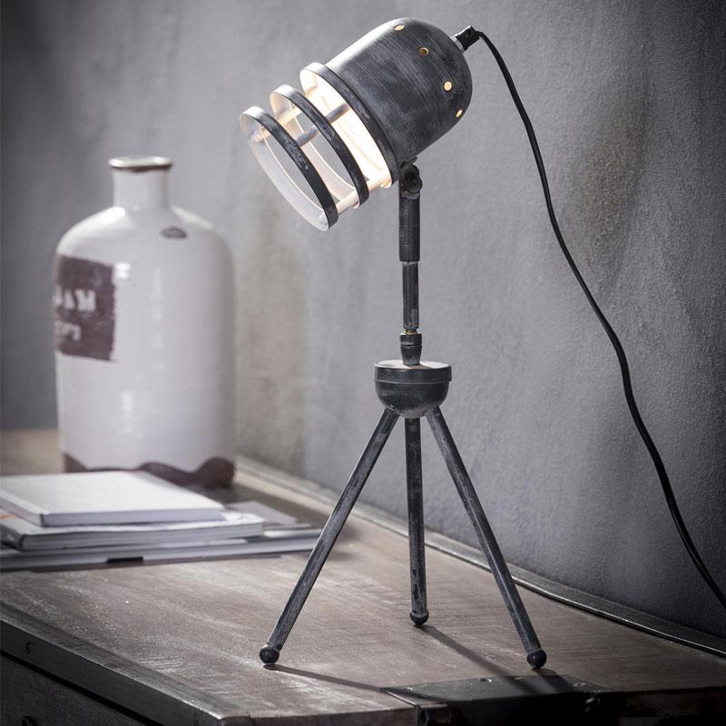 Verstelbare bureaulamp van metaal
